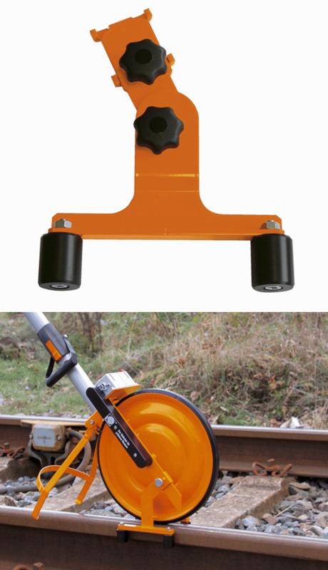 Railgeleiding t.b.v meetwiel voor op het spoor
