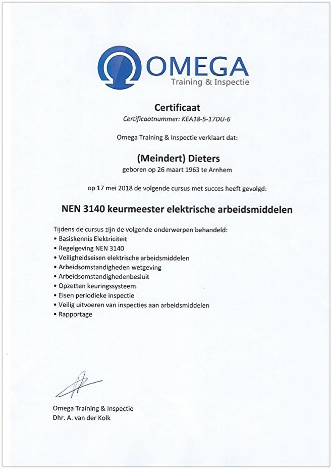 Omega Certificaat