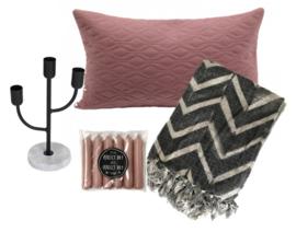 Pakketje sfeer grijs-roze KLEIN