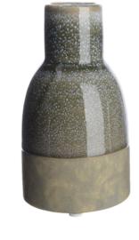 Vaas van keramiek kleur grijs/groen