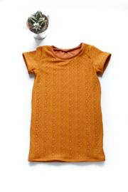 T-shirt jurk korte mouw - gevoerd Broderie