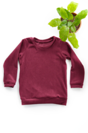 Sweater in Ribstof