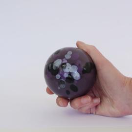Paarse mini urn met spetters