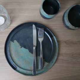 Dinerbord set van 2 - industrial vibes collectie