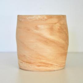 Pot met houtnerf