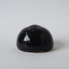 Urn | zwart met gouden spetters