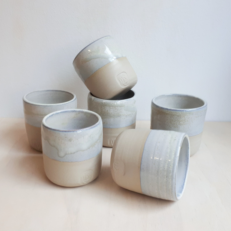 Beker - Industrial vibes design - wit