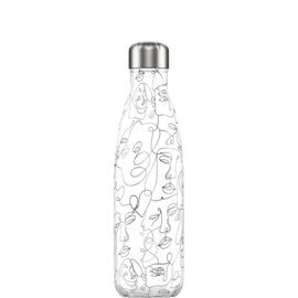 Chilly's Bottle Line Art Faces 500ml