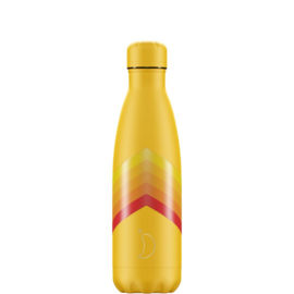 Chilly's Bottle Retro Yellow Zigzag 500ml