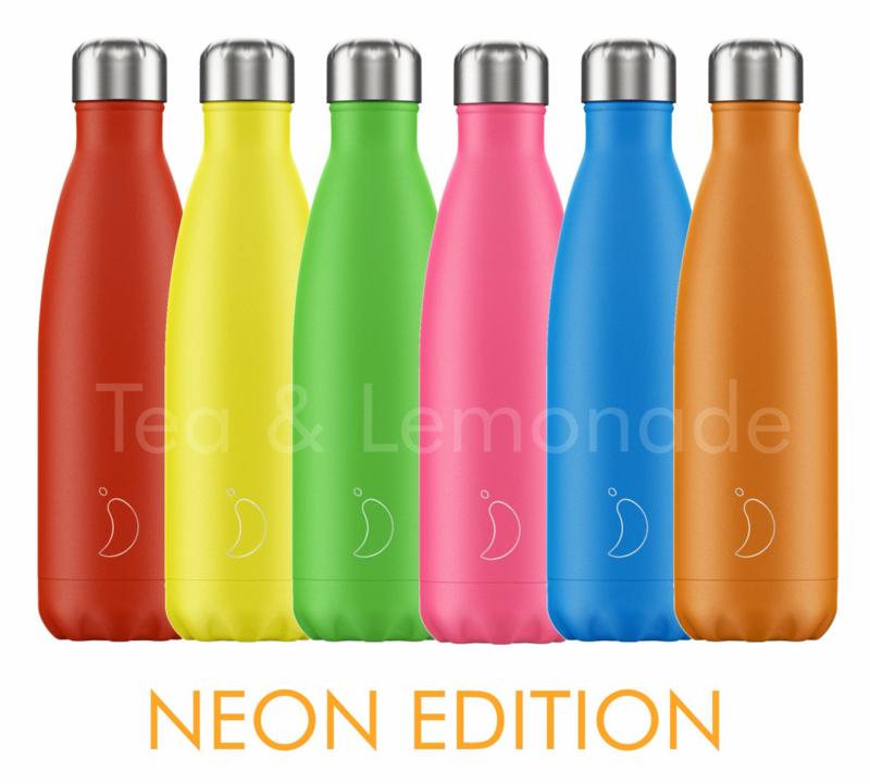 Chilly's Bottle Neon Blue 750ml