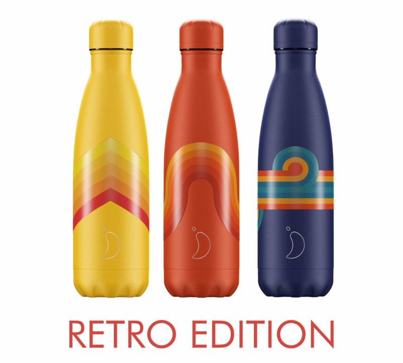 Chilly's Bottle Retro Yellow Zigzag 500ml