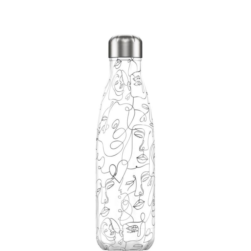 Chilly's Bottle Line Art Faces 500ml