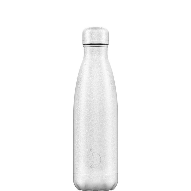 Chilly's Bottle Glitter White 500ml