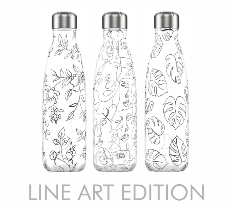 Chilly's Bottle Line Art Flowers 500ml