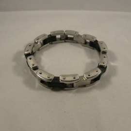 Heren armband staal 23cm