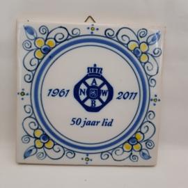 A.N.W.B. 50 jaar lidmaatschap tegeltje