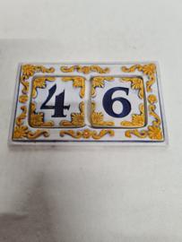 Huisnummer keramiek