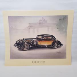 Aral Autoplaat Horch 1937 - Piet Olyslager