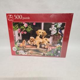 Jumbo 500 puzzel - ontmoeting op de veranda
