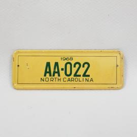 Maple Leaf chewing gum kentekenplaatje mini - 10 North Carolina