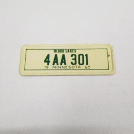 Maple Leaf chewing gum kentekenplaatje mini - 02 Minesota