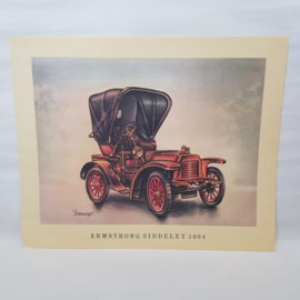 Aral Autoplaat Armstrong Siddeley 1904 - Piet Olyslager