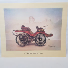 Aral Autoplaat Lanchester 1895 - Piet Olyslager