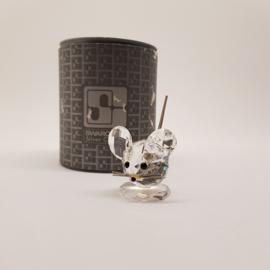 Swarovski Silver Crystal Muis met doosje