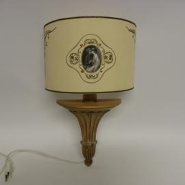 Brocant wandlampje met strass