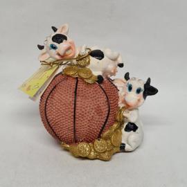 Koeien op basketbal spaarpot