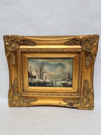 J Earl schilderijtje olieverf op paneel