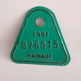 Hainaut fietsplaatje 1991