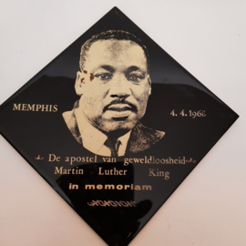 Martin Luther King tegel Memphis 4-4-1968