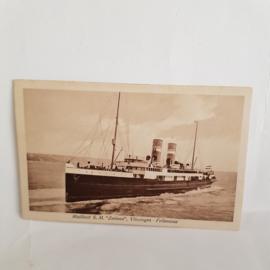Briefkaart Mailboot S.M.Zeeland Sepiakleur