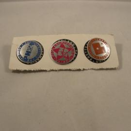 P.H.&.T 3 kleuren pins