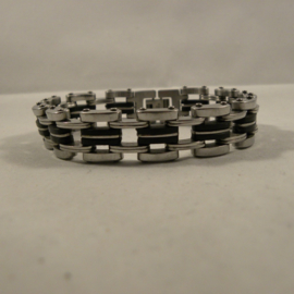 Heren armband staal