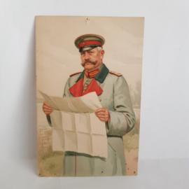 Ansichtkaart 1e wereldoorlog General Feldmarschall von Hindenburg