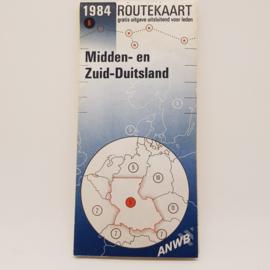 ANWB Routekaart Midden Duitsland 1984