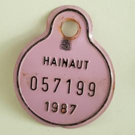 Hainaut fietsplaatje 1987