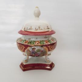 Antiek Kaptafel Potje met deksel