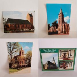 6 foto ansichtkaarten Kerken van Friesland
