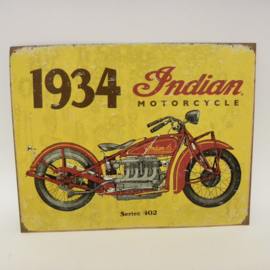 Blikken motorplaat Indian