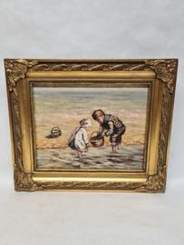 W.Raes olieverf schilderijtje op paneel