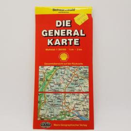 Shell Schwarzwald Duitsland autokaart 1982/83