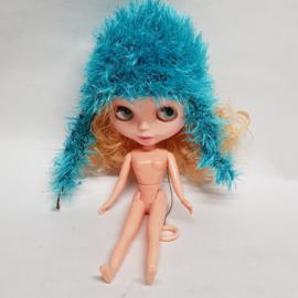 Blythe pop  blauwe muts