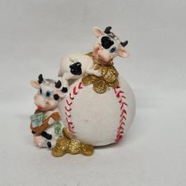 Koeien op honkbal spaarpot