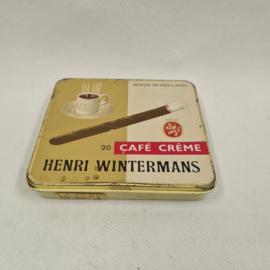 Cafe Creme Henri Wintermans oud sigaren blikje