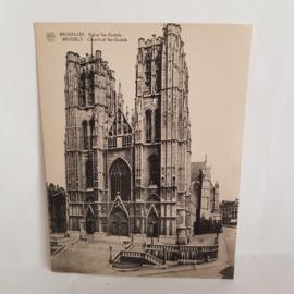 Brussels Church of Ste-Gudule grote briefkaart