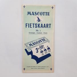 Mascotte fietskaart nr.1 Groningen - Friesland - Drenthe