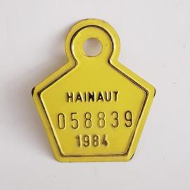 Hainaut fietsplaatje 1984